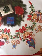 Merry Bears Tree Skirt Tree Skirt Counted X stitch Kit Dimesnions, sealed