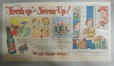 7-Up Ad: Fresh Up With Seven-Up! Play Baseball ! from 1950's  7.5 x 15 inches