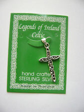 Sterling Silver Small Celtic Irish Knot Cross Pendant New