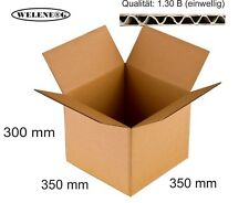 20 Faltkartons 350x350x300mm B-410g/m2  Versandkarton Falt Kartons [ BRAUN ]