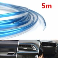 5M AUTO ACCESSORIES CHROME Shiny CAR Universal Interior Gap Decorative Blue Line