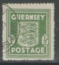 GUERNSEY SG1e 1943 ½d OLIVE-GREEN FINE USED