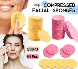 50 Pcs Facial Sponges,100% Natural Cellulose Compressed Facial Sponges Reusable