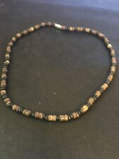 """Wood Bead Necklace, 17"""""""