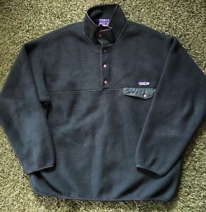 Vintage 90s Patagonia Synchilla Fleece Snap T Forest Green SP98 Men's XL USA