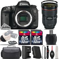 Canon EOS 7D Mark II DSLR Camera + Canon EF 24-70 f/ 2.8L II USM Lens - 64GB Kit