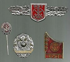 Military Collectible East and West German Sports Badges Techniques Fire Brigade