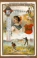French Province Of Guyenne - A Pretty c1896 Trade Ad Card