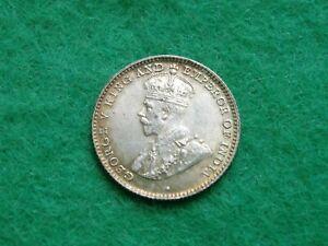 Ceylon 1928 10 Cents Brill A/Unc (SE-47)