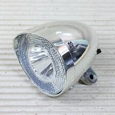 XLC LED Retro CL-D03 SCHEINWERFER silber 20 LUX mit Schalter für Nabendynamo