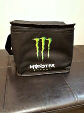 MONSTER ENERGY Cooler Bag Insulated Black Green Logo Carry Handle Small Tote NEW