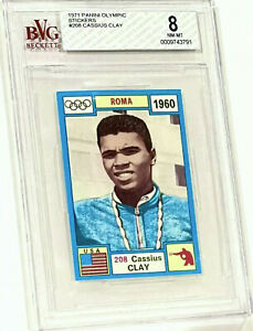 1971 OLYMPIA CASSIUS CLAY BVG 8 (HIGHEST GRADE) BGS PSA (BROWN BACK) **RARE**