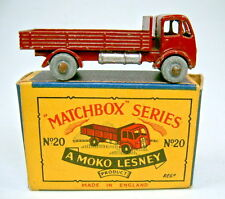 """Matchbox RW 20A ERF Stake Truck maroon in """"MOKO"""" Box"""
