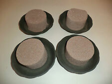 4 Round Oasis Saucers - Green + 4 Dry Foam Oasis Cylinders