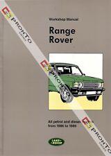 FACTORY WORKSHOP SERVICE REPAIR MANUAL BOOK LAND RANGE ROVER PETROL DIESEL 86-89