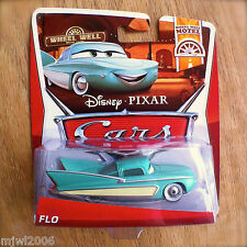 Disney PIXAR Cars FLO on 2013 WHEEL WELL MOTEL THEME card diecast 7/11 showgirl