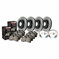 StopTech Disc Brake Pad and Rotor Kit Slotted for 07-13 BMW 335d / 335i / 335is