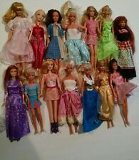 Huge Lot of 14 Barbie and Barbie Type Dolls Mattel Etc. with Clothes