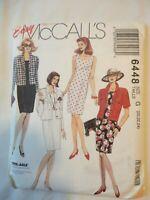 Vintage 1993 Sewing  Unlined Jacket & Dress Size 20-22-24 Uncut