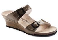 Birkenstock Papillio Two Tone Patent Mud Tan Beige Slide Mule US 8 EU 39