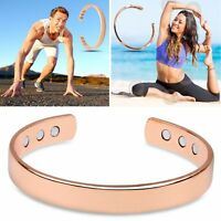 Unisex Magnetic Copper Bracelet Healing Bio Therapy Arthritis Pain Relief Bangle