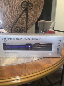 "Ion Pro Curling Iron 1 inch 450° Titanium New In Box 1"""