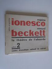 CINE - IONESCO BECKETT - CUADERNO PROGRAMA 2 - TEATRO DEL ABSURDO - E.O. 1957