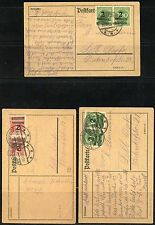 GERMANY LOT OF THREE  POSTCARD FRANKED 4 MILLION MARKS EACH AS SHOWN