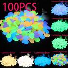 100Pcs Glow Pebbles Stones Home Fish Tank Outdoor Decor Garden Stones Luminous
