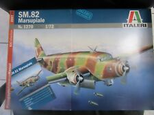 Italeri 1:72 SM.82 Marsupiale Plastic Aircraft Model Kit #1270