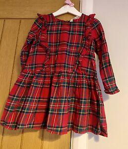 H&M Girls Beautiful Red Tartan Check Christmas Dress Age 3-4 Years 🎄🎅🏻
