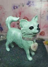 More details for chihuahua long coat statue, 'glow in the dark' illumino design