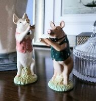 Beswick England, Pig Band Members, David and Matthew, Figurines, set of 2