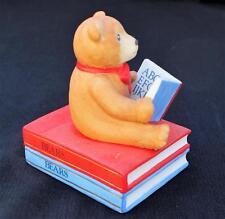 Vintage 1985 Schmid Porcelain Gordon Fraser Teddy Bear w Book Music Box