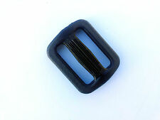 NEXUS TRI-GLIDE BUCKLE SLIP LOCK 25MM SET OF 4 REPLACEMENT BLACK (TG25)