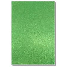2 x A4 Fogli Di 220gsm Premium Dovecraft VERDE smeraldo carta glitter