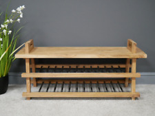 Shoe Storage Benching solid wood with shelves