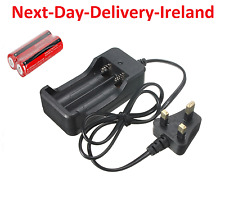 Dual UK AC Plug Universal Battery Batteries Charger 3.7V 2x 18650 Rechargeable