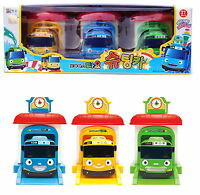 Little Bus TAYO Shooting car 3 ea + Garage / Tayo Rogi Rani /korea Animation Toy