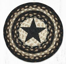 """Braided Jute Pink Flamingo 10/"""" Round Placemat Trivet Earth Rugs Beach"""