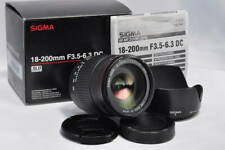 [Mint] SIGMA AF 18-200mm f/3.5-6.3 DC in Box for Sony Minolta from Japan #218