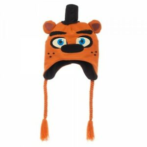 NEW BROWN FIVE NIGHTS AT FREDDYS LAPLANDER FACE BEANIE HAT CAP ONE SZ AUTHENTIC