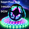 1M/2M 144LED/M WS2811 WS2812B IC Dream Color RGB LED Flexible Strip Light DC 5V