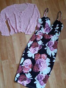 Sz 6 Showpo Pencil Dress & New Crochet Cardi