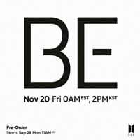 BTS-[BE] Deluxe Edition Limited Album CD contents + (On) Packed Poster Pre-Order