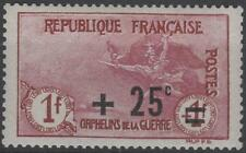 """FRANCE STAMP TIMBRE N° 168 """" ORPHELINS +25c S .1F+1F 1922 """" NEUF xx TTB  K211"""