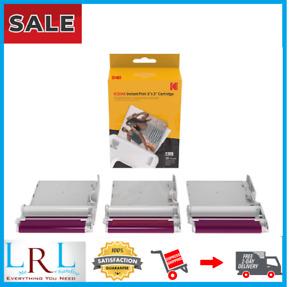 NEW KODAK Instant Print 3'x3' Cartridge 60 Prints Mini Shot Combo Free Shipping