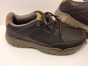 Croc Mens Swiftwater Brown Leather Walking Hiker Shoes Sneakers US 8 (203392)