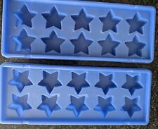 The Pampered Chef Star Shaped Ice Cube Trays Blue 2280 Set of 2