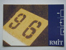 RMIT OPEN DAY 1996 SUNDAY AUGUST 11 10AM - 4PM AVANT CARD #940 POSTCARD